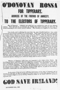 1869 Election Manifesto of O'Donovan Rossa source celt.ie